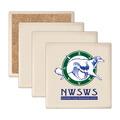 Square Sandstone Dog Show Award Coasters