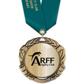 XBX Metallic Dog Show Medal w/ Satin Neck Ribbon