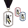GEM Tag Dog Show Award Medal w/ Grosgrain Neck Ribbon