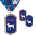 GEM Tag Dog Show Award Medal w/ Millennium Neck Ribbon