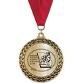 Metallic GFL Dog Show Award Medal w/ Any Grosgrain Neck Ribbon