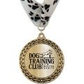 GFL Metallic Dog Show Award Medal w/ Millennium Neck Ribbon