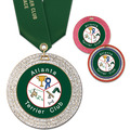 Full Color GEM Dog Award Medal w/ Any Satin Neck Ribbon