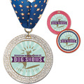 GEM Full Color Dog Show Award Medal w/ Millennium Neck Ribbon