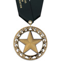 Rising Star Dog Show Award Medal w/ Satin Neck Ribbon