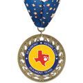 RS14 Full Color Dog Show Award Medal w/ Millennium Neck Ribbon