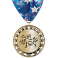 RS14 Metallic Dog Show Award Medal w/ Millennium Neck Ribbon