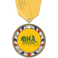 RSG Full Color Dog Show Award Medal w/ Satin Neck Ribbon