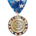 RSG Metallic Dog Show Award Medal w/ Millennium Neck Ribbon