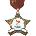 AS14 All Star Full Color Dog Show Award Medal w/ Satin Neck Ribbon