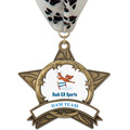 AS14 All Star Full Color Dog Show Award Medal w/ Millennium Neck Ribbon