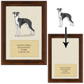 Dog Show Award Plaque w/ AKC Breeds - Cherry