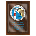 Full Color Dog Show Award Plaque - Cherry Finish w/ Acrylic Overlay