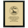 Dog Show Award Plaque - Black w/ Engraved Plate