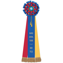 Barnes Rosette Dog Show Award Ribbon