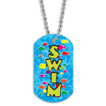 Swim Fish School Dog Tag