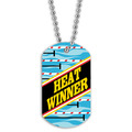 Swim Heat Winner Dog Tag