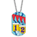 Swim Starting Blocks Dog Tag