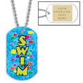 Swim Fish School w/ Engraved Plate
