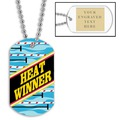 Swim Heat Winner Dog Tag w/ Engraved Plate