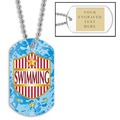 Swim Shield w/ Engraved Plate