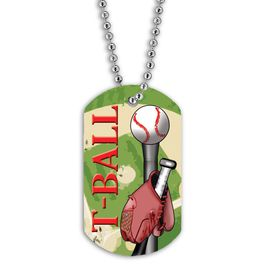 Full Color T-Ball Dog Tag
