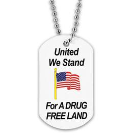 Drug Free Custom Dog Tags