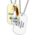 Full Color Clean Pony Dog Tag w/ 2-Sided Print