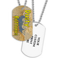 Full Color Dusty Bottoms Dog Tag w/ 2-Sided Print