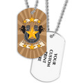 Full Color Horse Shoe Dog Tag w/ 2-Sided Print