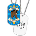 Full Color To Ride Or Not To Ride Dog Tag w/ 2-Sided Print