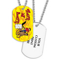 Full Color Turn and Burn Dog Tag w/ 2-Sided Print