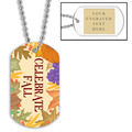 Celebrate Fall Dog Tag w/ Engraved Plate
