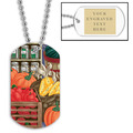 Fruits & Veggies Dog Tag w/ Engraved Plate