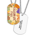 Celebrate Fall Dog Tag w/ Print on Back