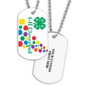 Cloverbud Dog Tag w/ Print on Back