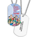 Family Friends Dog Tag w/ Print on Back