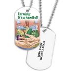 Farming Dog Tag w/ Print on Back