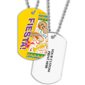 Fiesta Dog Tag w/ Print on Back