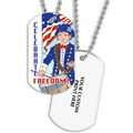 Freedom Dog Tag w/ Print on Back