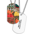 Fruits & Veggies Dog Tag w/ Print on Back