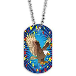 Full Color Eagle Dog Tag