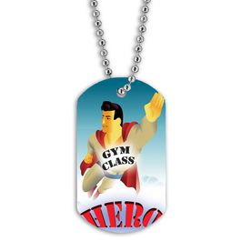 Full Color Gym Class Hero Dog Tag