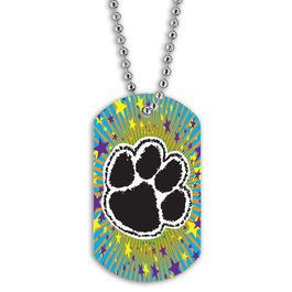 Full Color Paw Print Dog Tag