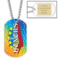 Personalized Honors Dog Tag w/ Engraved Plate