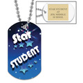 Custom School Dog Tags w/ Engraved Plate