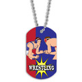 Full Color Wrestling Stance Dog Tag