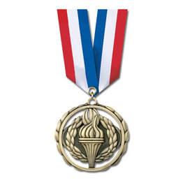 ES Medal w/ Specialty Satin Neck Ribbon