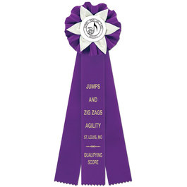 Ewell Dog Show Rosette Award Ribbon