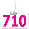 Custom Large Rectangular Exhibitor Number w/ Hook
